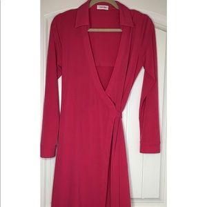 Pink Calvin Klein Wrap Dress